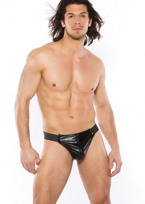 ZEUS MENS WETLOOK THONG