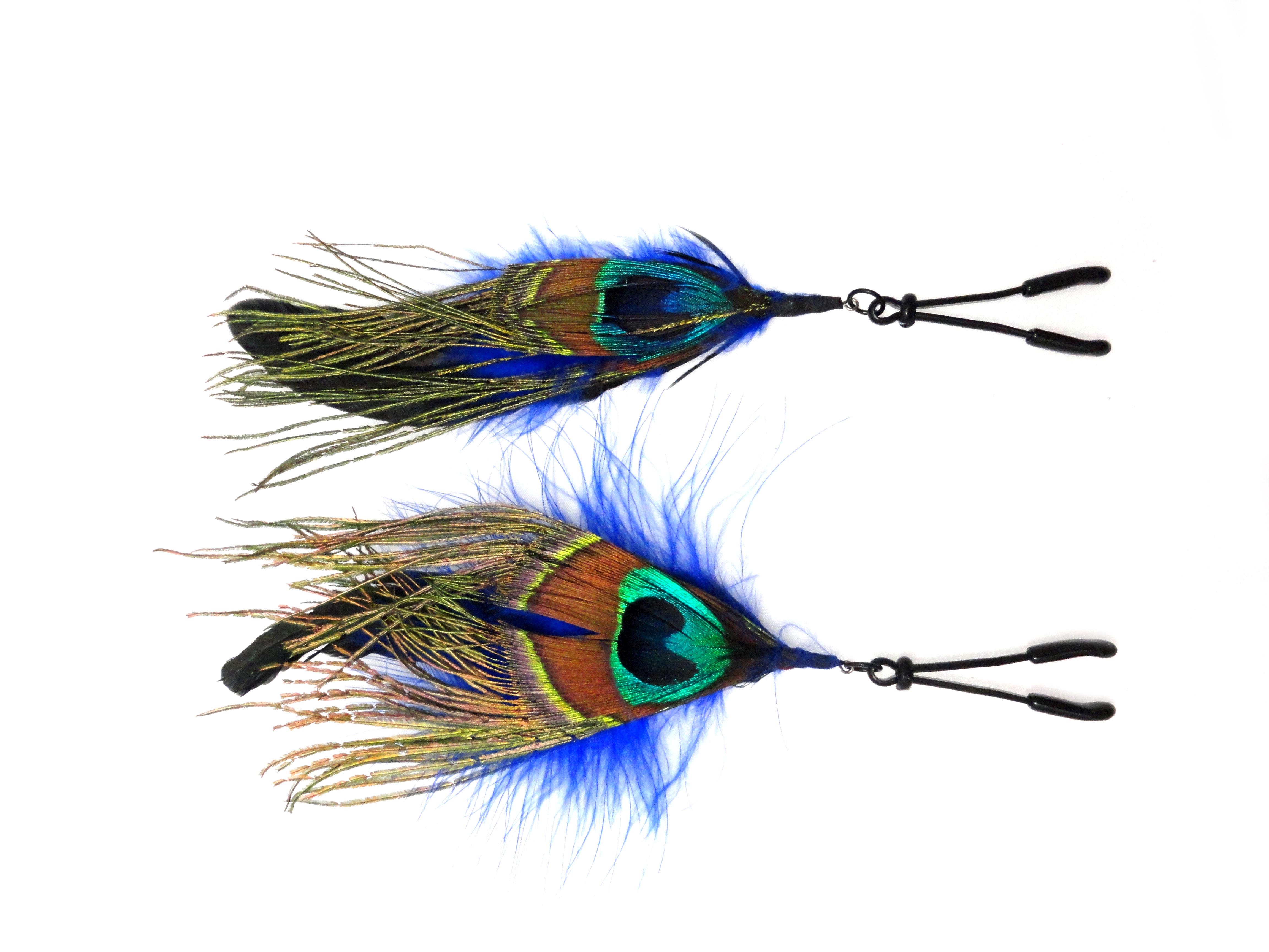 Wide Tweezer Clamp Black Feather Color