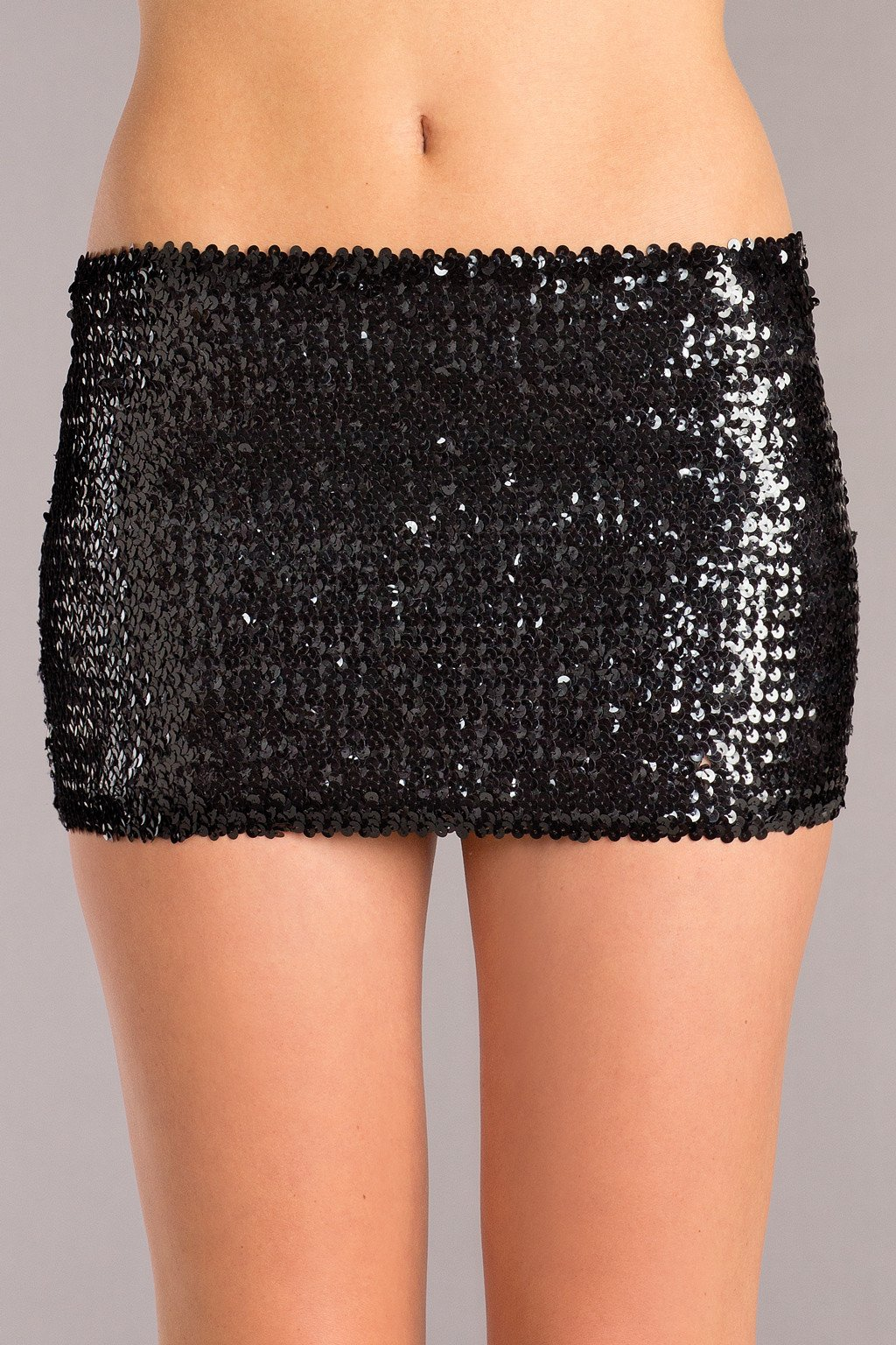 BLACK SEQUIN SKIRT SMALL