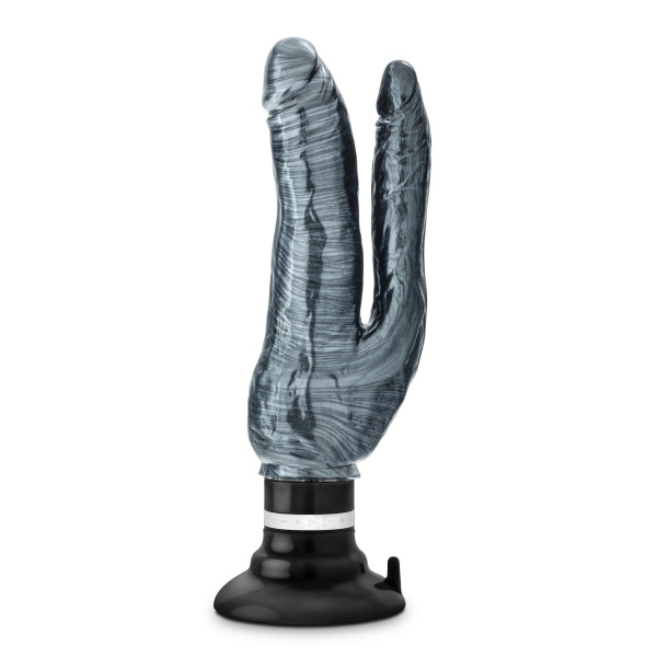 JET DEUX NOIR CARBON METALLIC DOUBLE VIBRATING DILDO