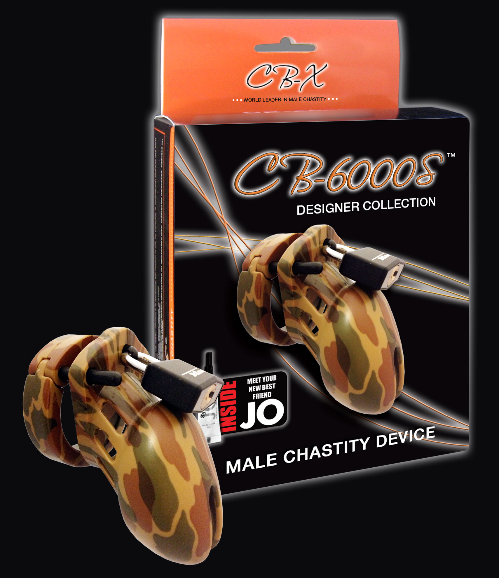 """Chastity 3 1/4""""camouflage Cock Cage"""