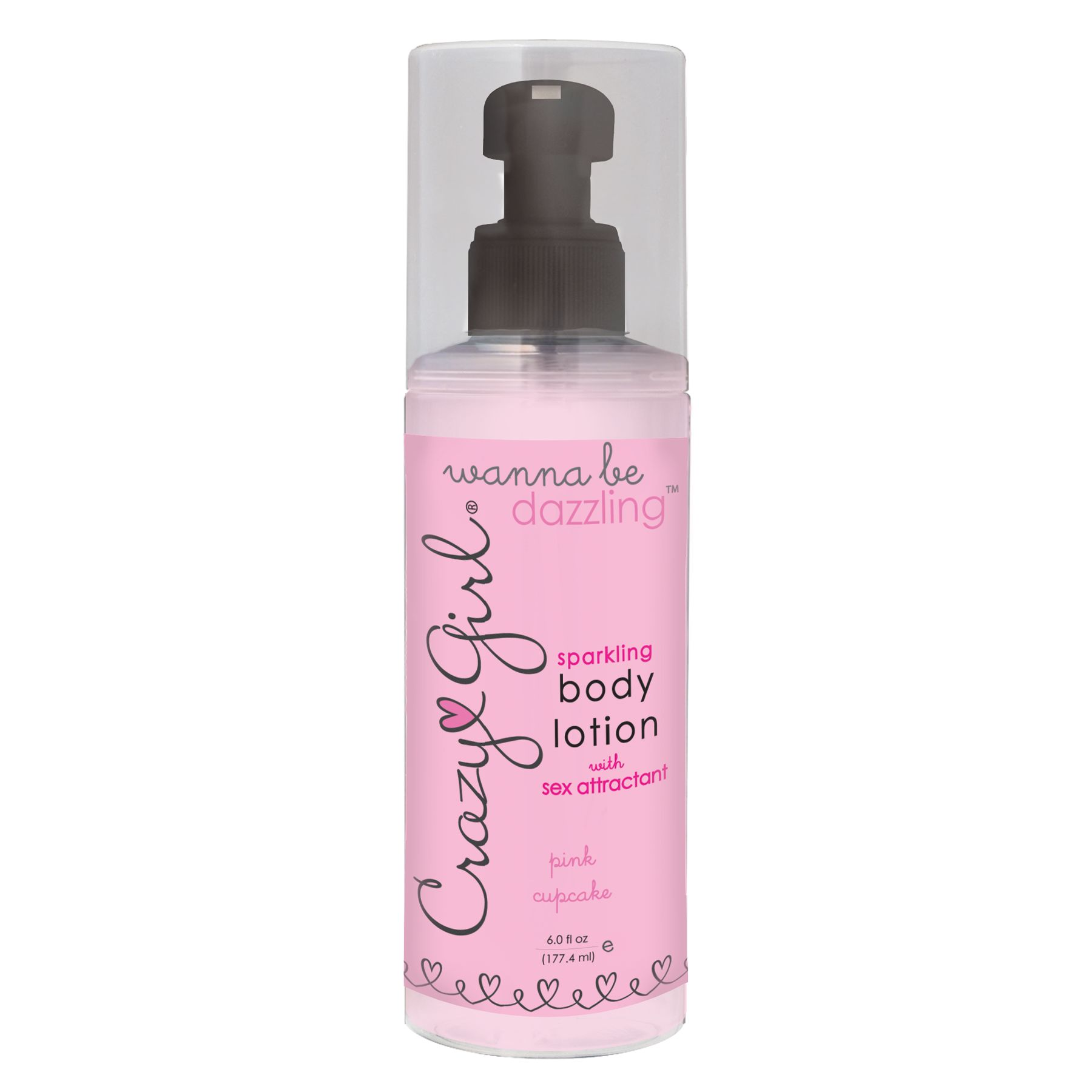 Crazy Girl Sparkling Body Lotion Pink Cupcake