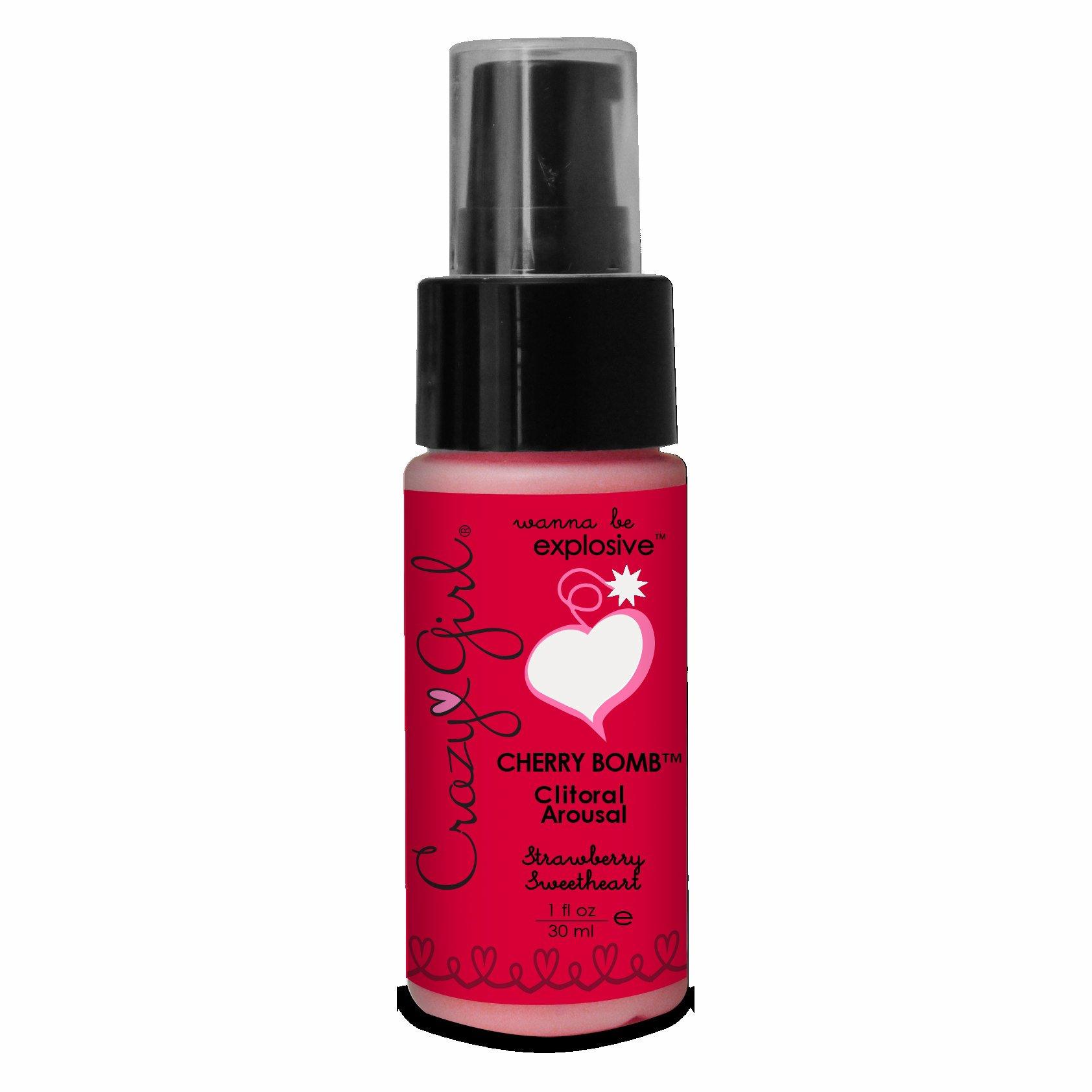 Cherry Bomb Clitoral Arousal Strawberry 1Oz