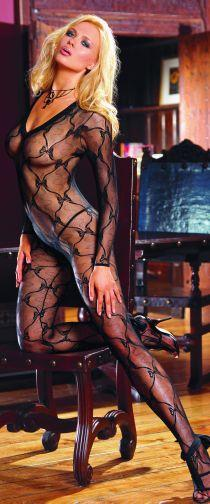 "Body Stocking Black Os ""Bordeaux"""