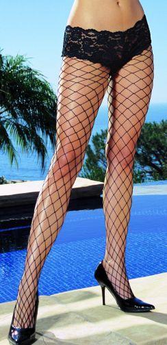 """Monaco"" Net Pantyhose Black Os"