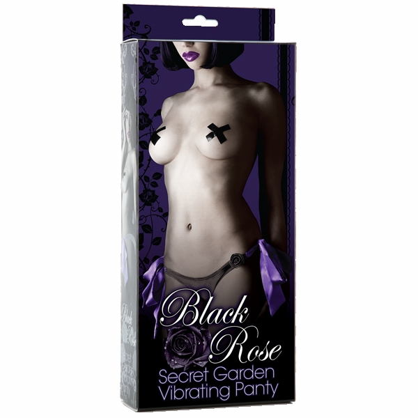 Black Rose Secret Garden Vib. Panties