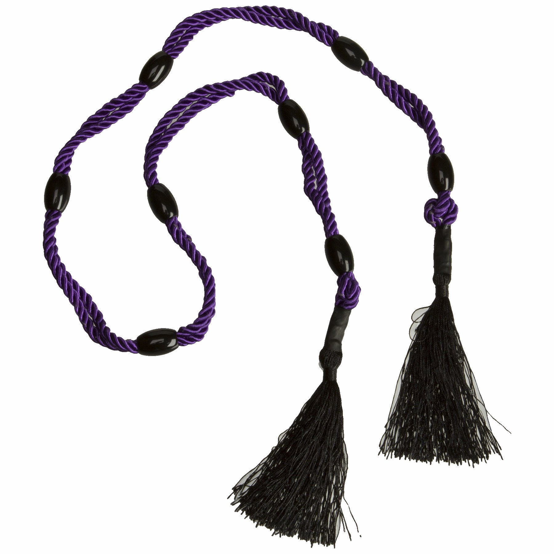 BLACK ROSE BEADED BONDAGE BLISS PURPLE