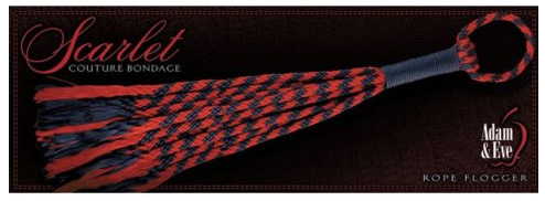 ADAM & EVE SCARLET COUTURE ROPE FLOGGER