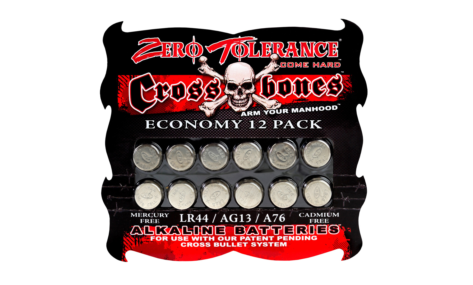 Crossbones 12 Pack Lr44 Battery