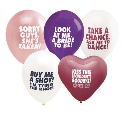 BACHELORETTE BALLOONS ASST. COLORS