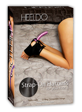 HEELDO FOOT HARNESS HERS S/M BLACK