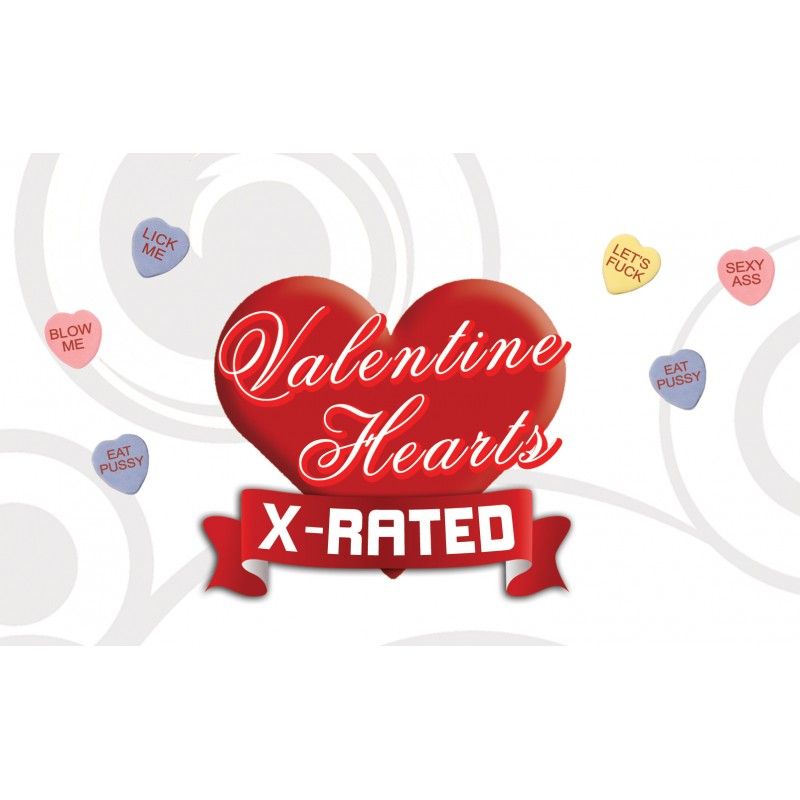 VALENTINES X RATED HEART CANDY W/ ASSORTED SAYINGS 24PC Love ...