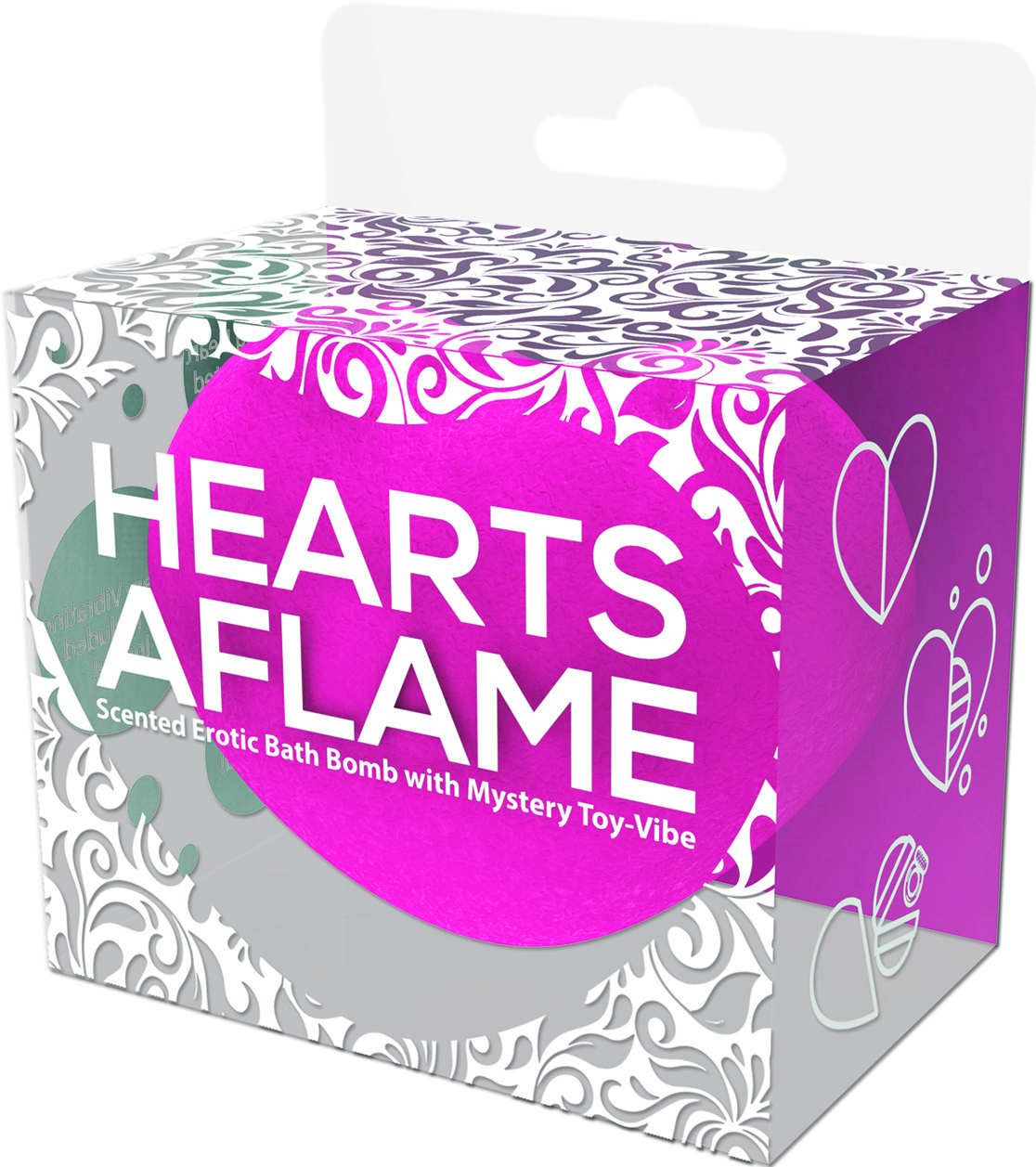 HEARTS AFLAME EROTIC BATH BOMB