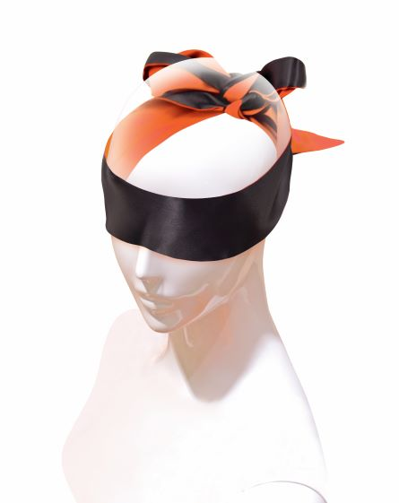 9S ORANGE IS THE NEW BLACK SATIN SASH BLINDFOLD/RESTRAINT