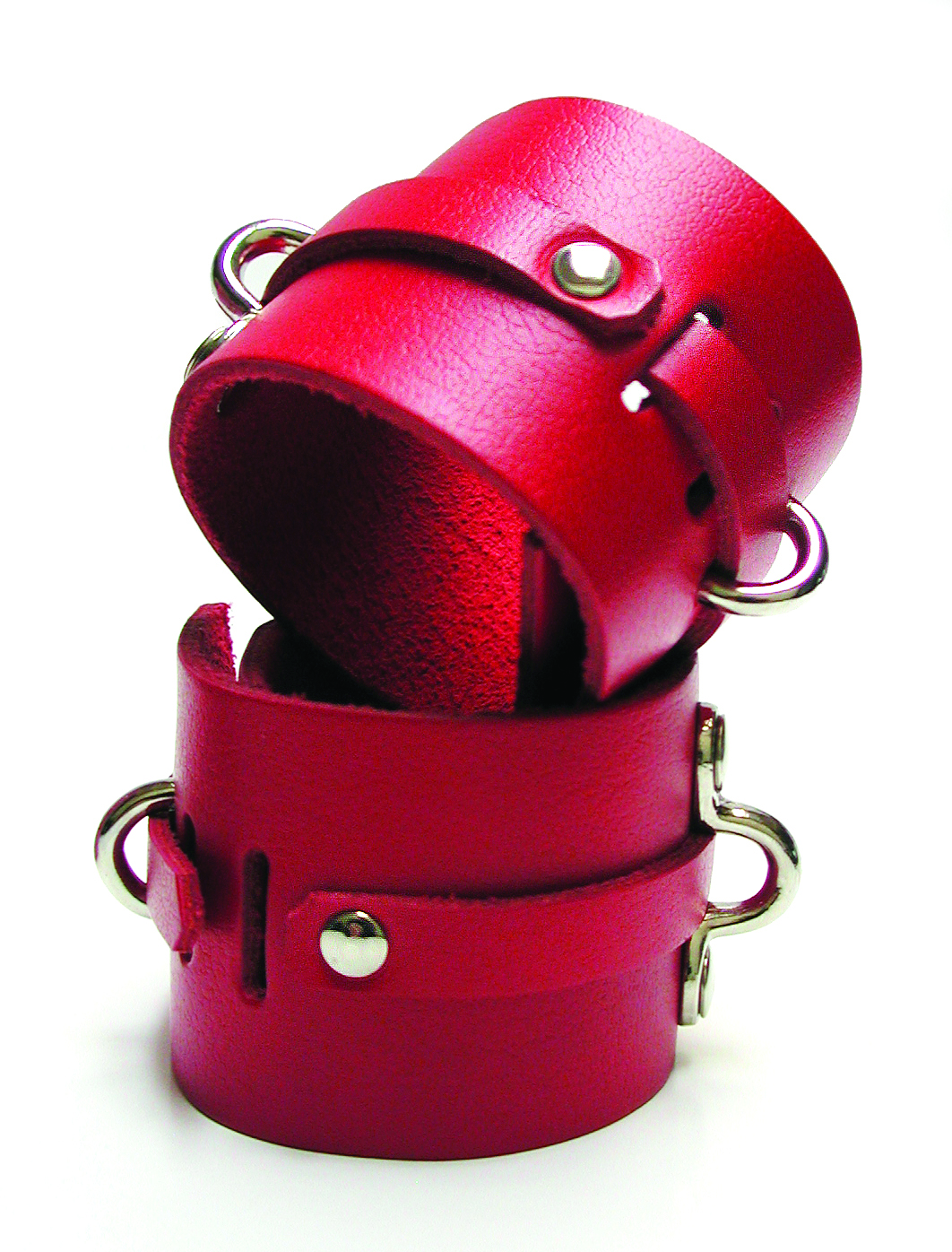 ANKLE CUFFS LEATHER RED