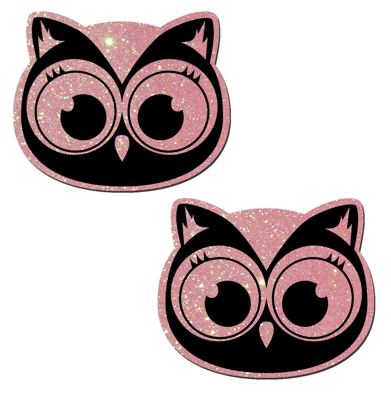 GLITTER OWL PINK/BLACK