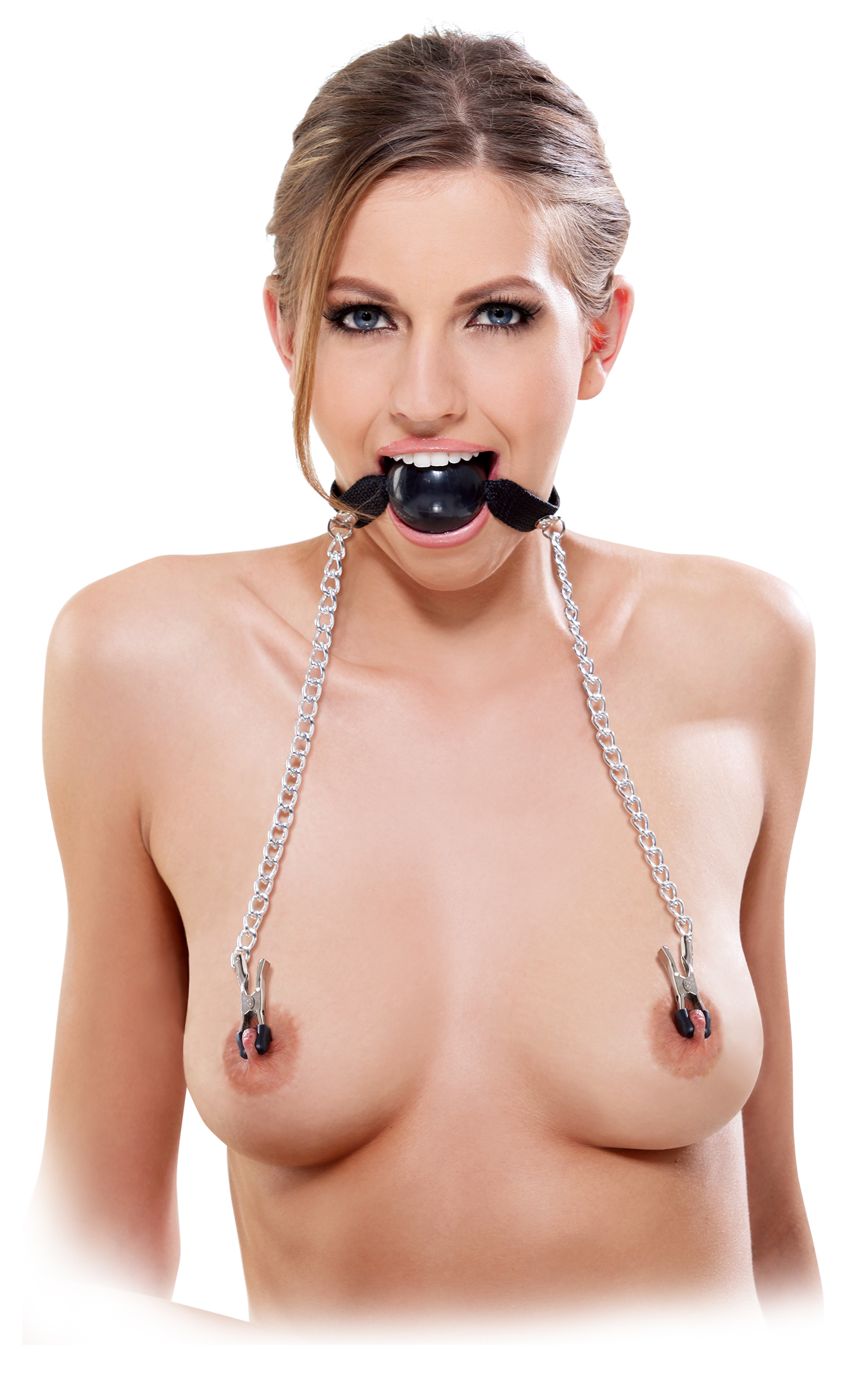 FETISH FANTASY BALL GAG & NIPPLE CLAMPS