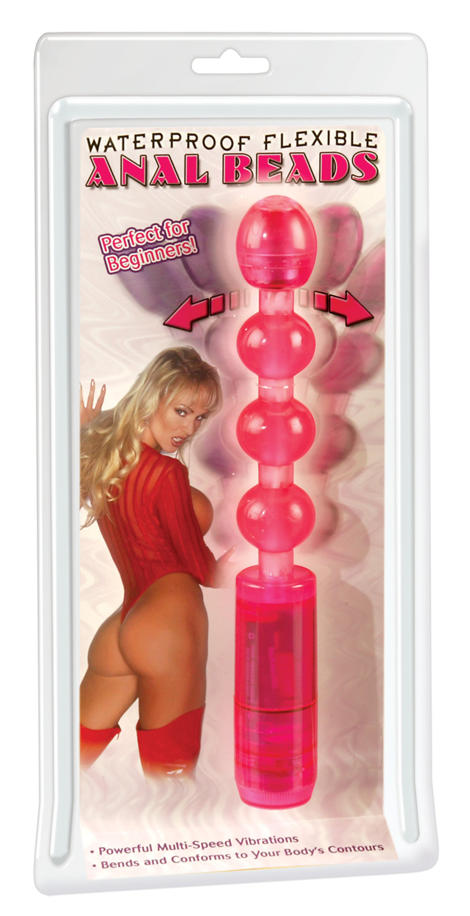 WATERPROOF FLEXIBLE ANAL BEADS PINK