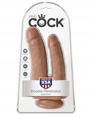 KING COCK DOUBLE PENETRATOR TAN