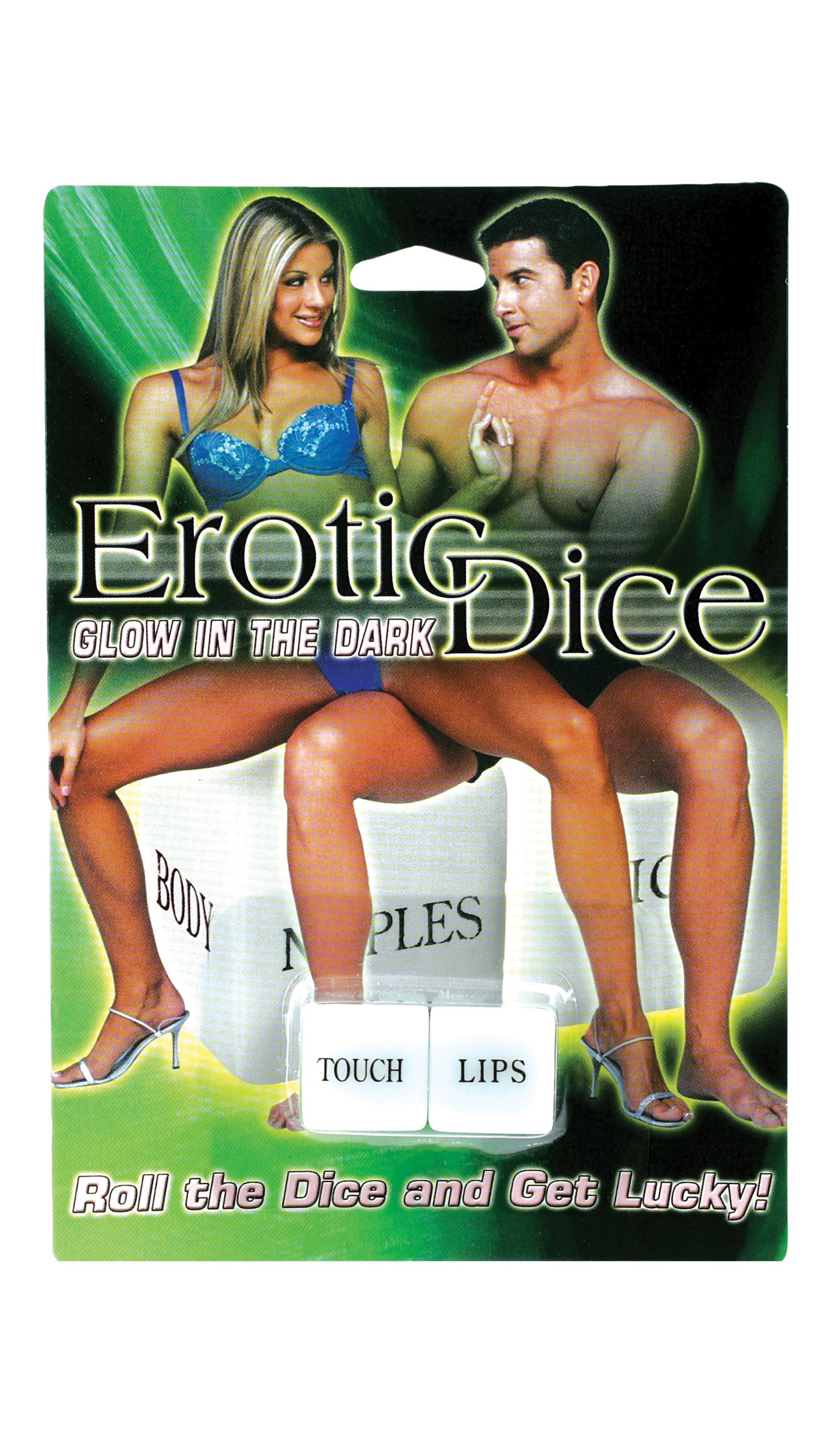 GLOW IN THE DARK EROTIC DICE-(EACH)