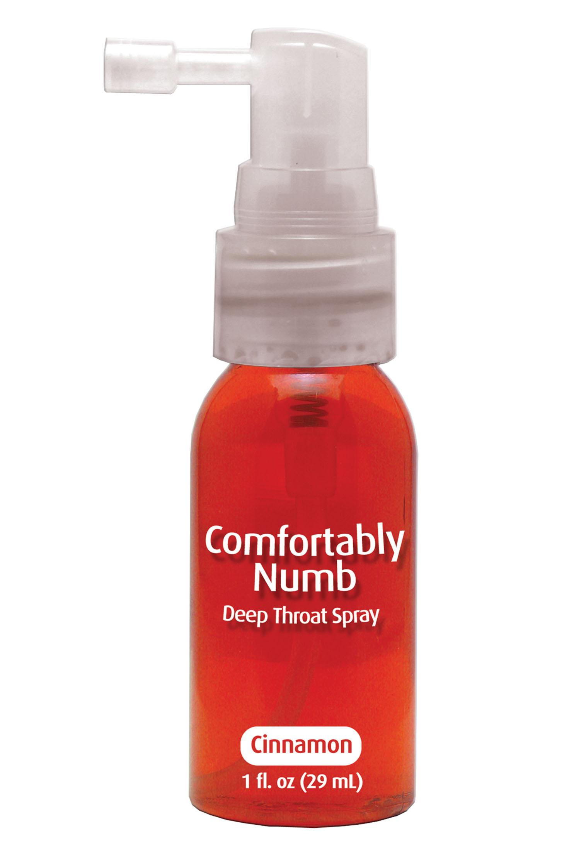 Deepthroat numbing spray