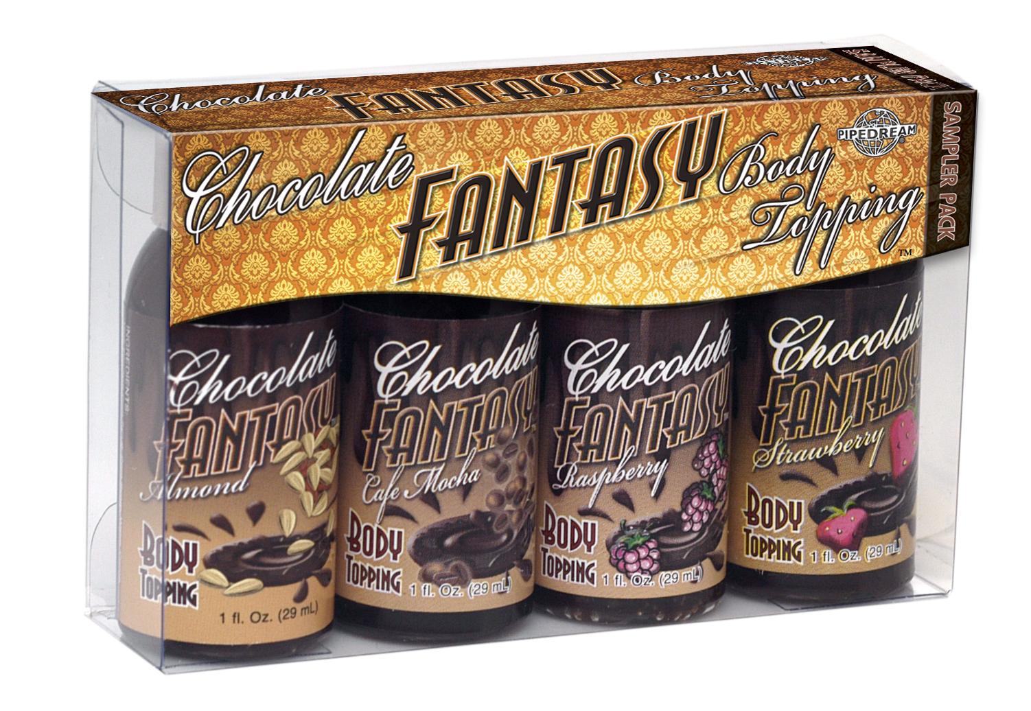 CHOCOLATE FANTASY BODY TOPPING SAMPLER 4 PACK