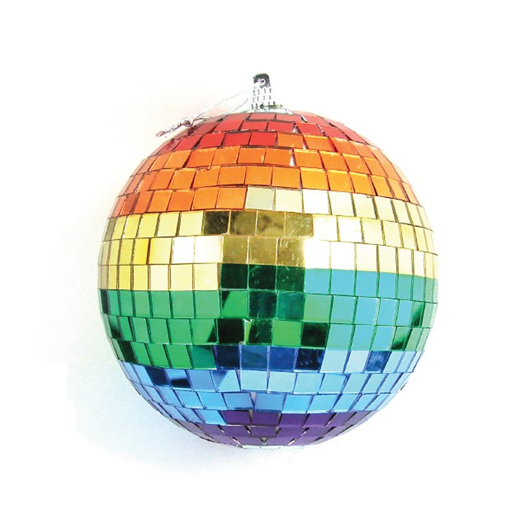 2 IN RAINBOW DISCO BALL