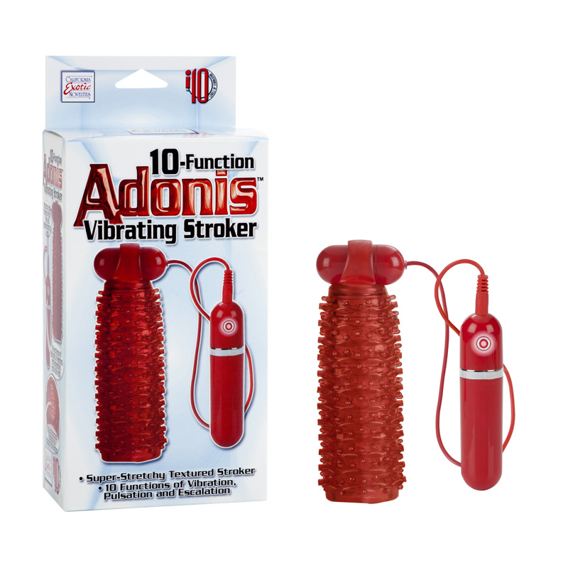 Adonis Vibrating Stroker Red