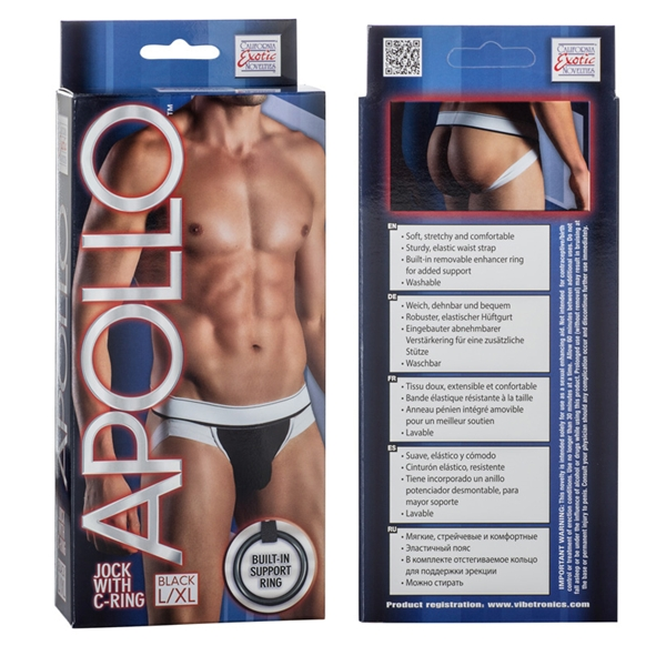 Apollo Jock with C-Ring Black L/XL