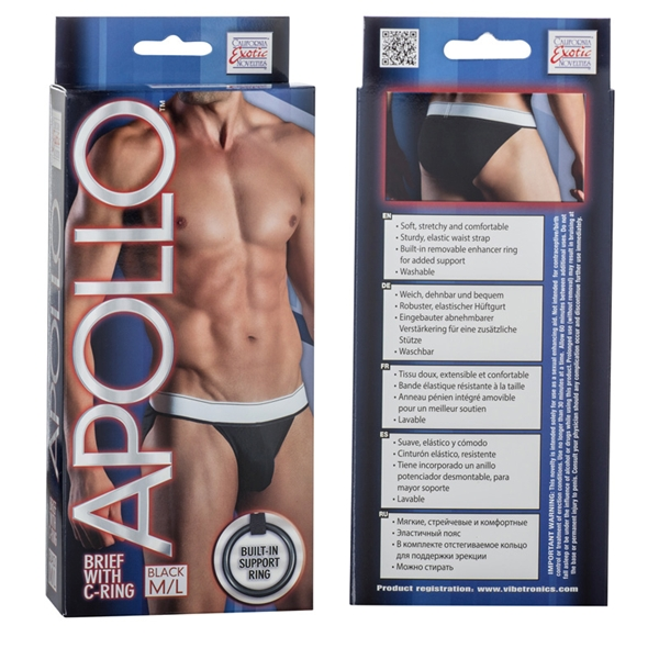 Apollo Brief with C-Ring Black M/L
