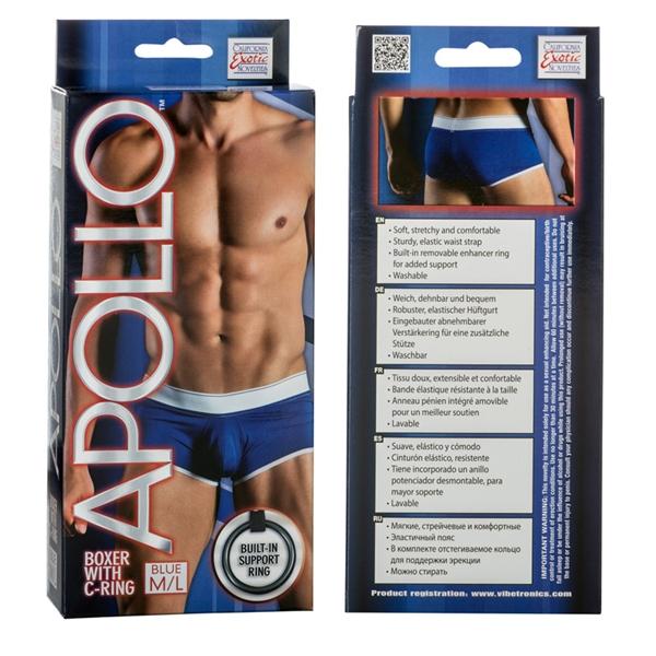 Apollo Boxer with C-Ring Blue M/L