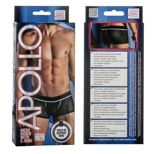 Apollo Mesh Boxer with C-Ring Black L/XL