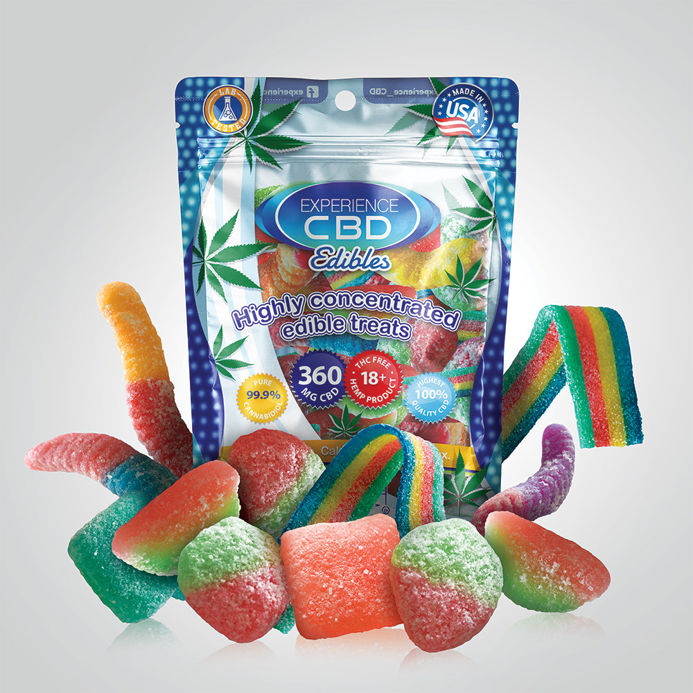 CBD 360MG ASSORTED GUMMIES 12PC