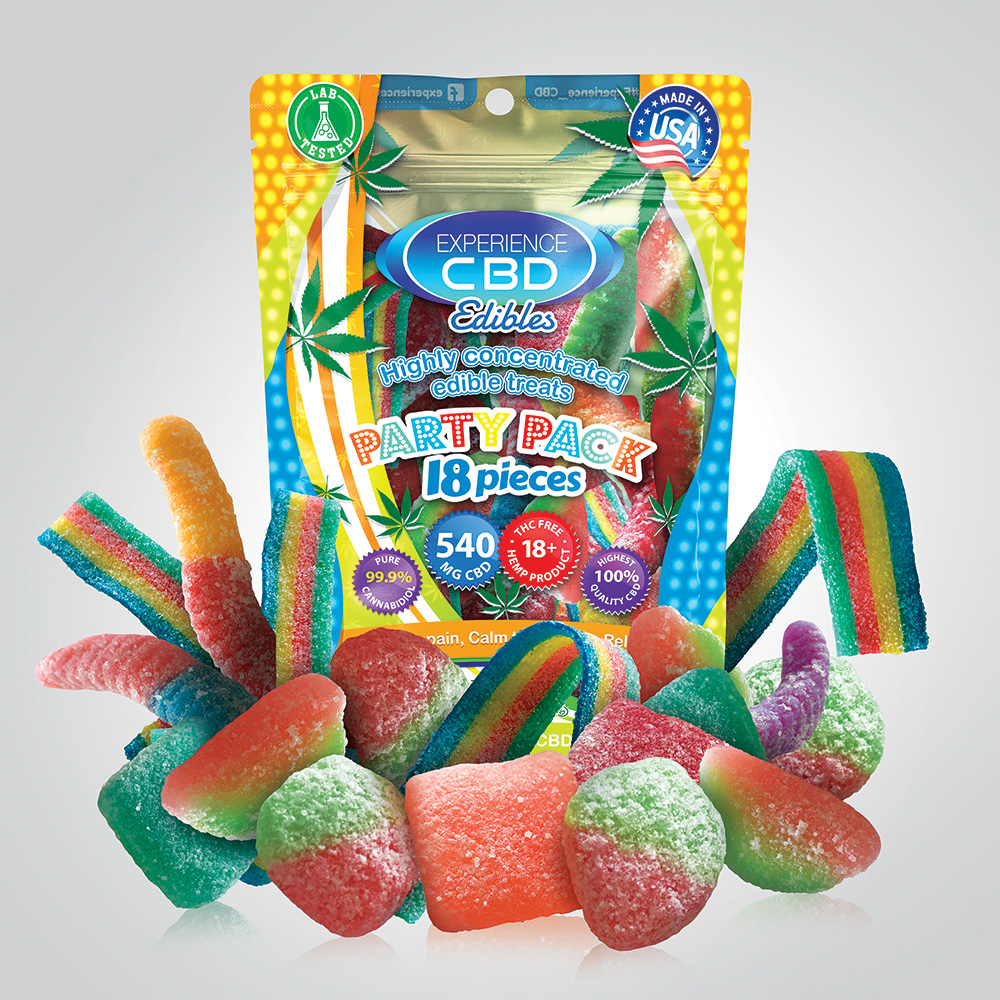 CBD 540MG ASSORTED GUMMIES 18PC