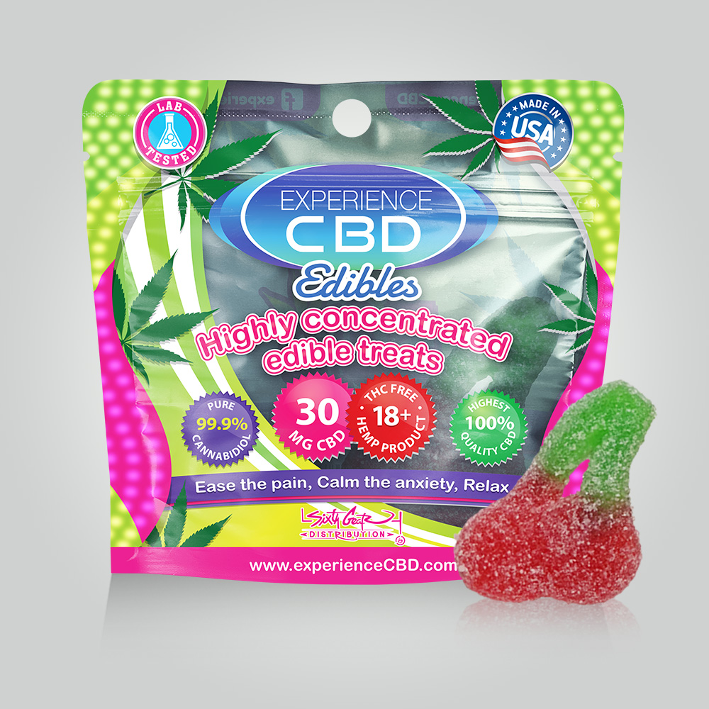 CBD 120MG CHERRY GUMMIES 4PC