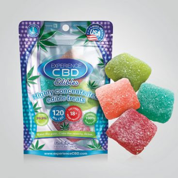 CBD 120MG SOUR GUMMY CUBES 4PC