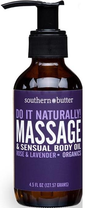 Body & Massage Oil Rose & Lavender 4oz