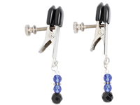 Adj Clamp W/ Blue Beads - SPF101