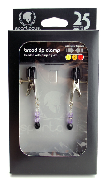 Adj Clamp W/Purple Beads - SPF103