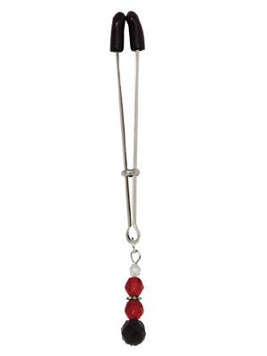 Tweezer Clit Clamp W/Red Beads