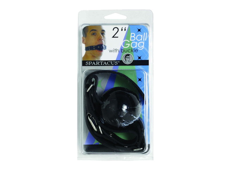 "2"" Black Ball Gag W/Buckle"