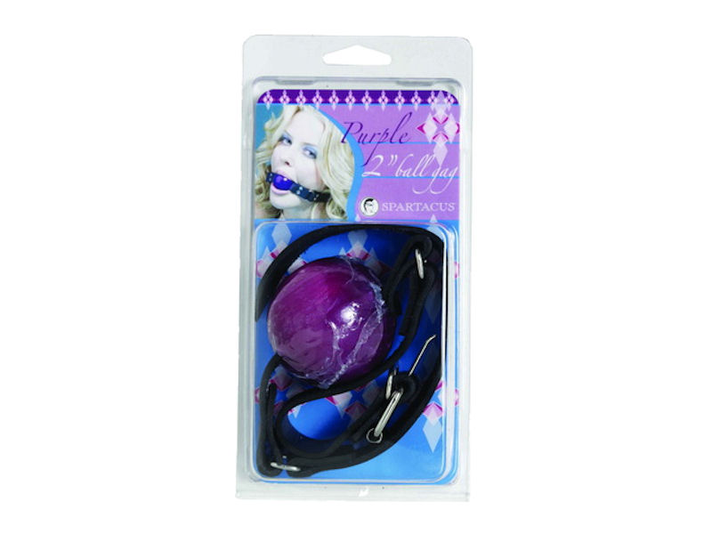 "2"" Purple Ball Gag W/ Buckle"