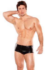 Zeus Wet Look Shorts O/S (Mens)