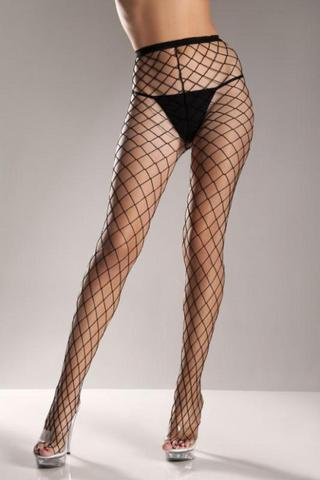 Black Fence Net Pantyhose