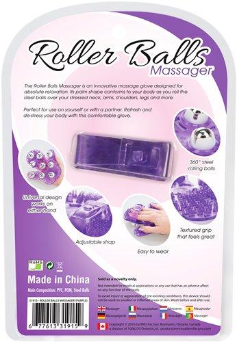 ROLLER BALLS MASSAGER PURPLE - BMS31915