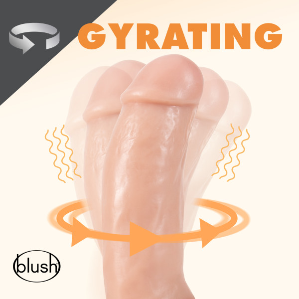 DR. SKIN DR. SPIN 7IN GYRATING REALISTIC DILDO VANILLA