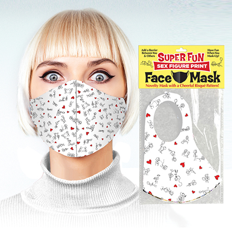 SUPER FUN SEX FIGURE FACE MASK covid, adult, covid-19, facemask