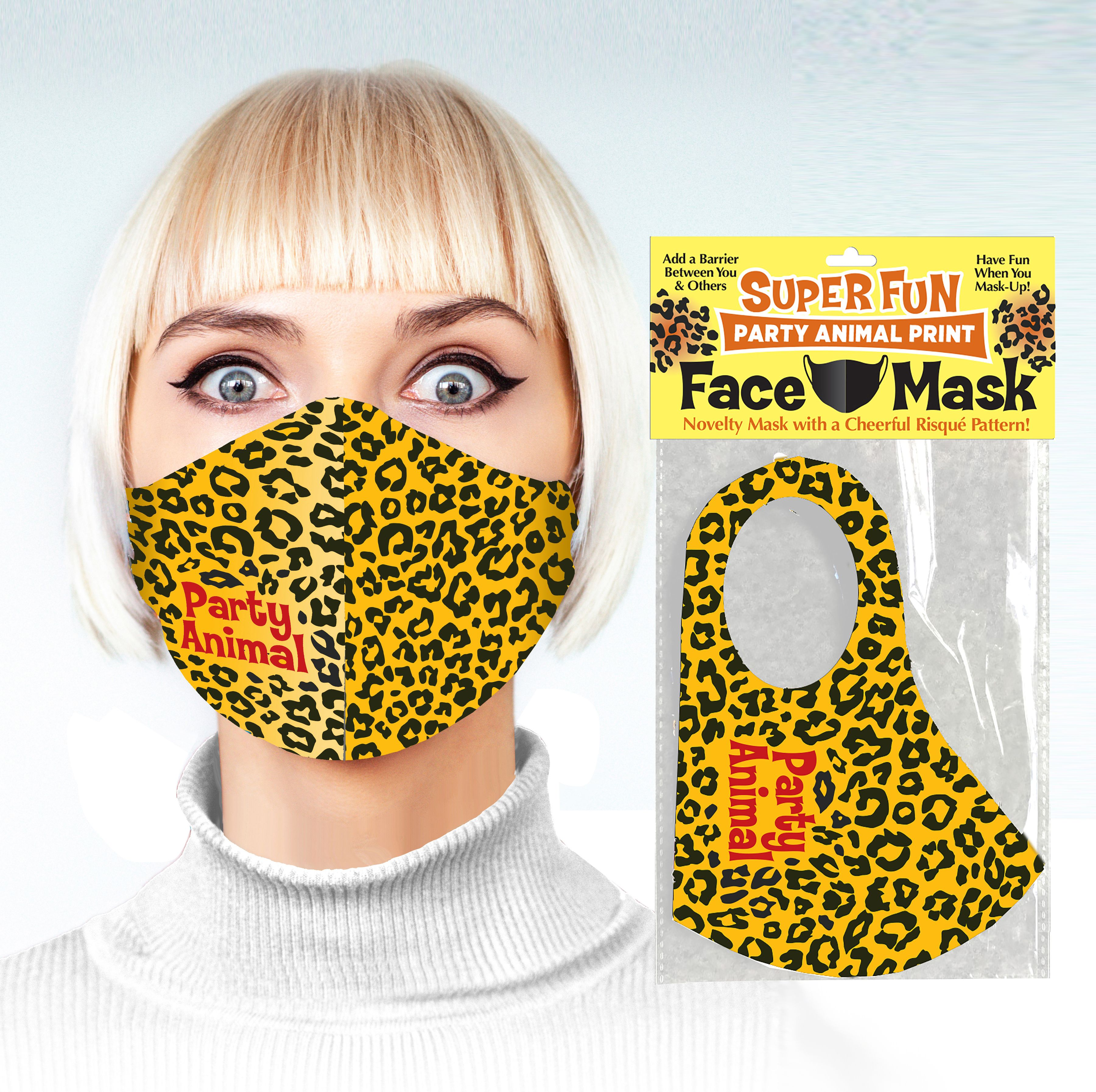 PARTY ANIMAL FACE MASK covid, adult, covid-19, facemask