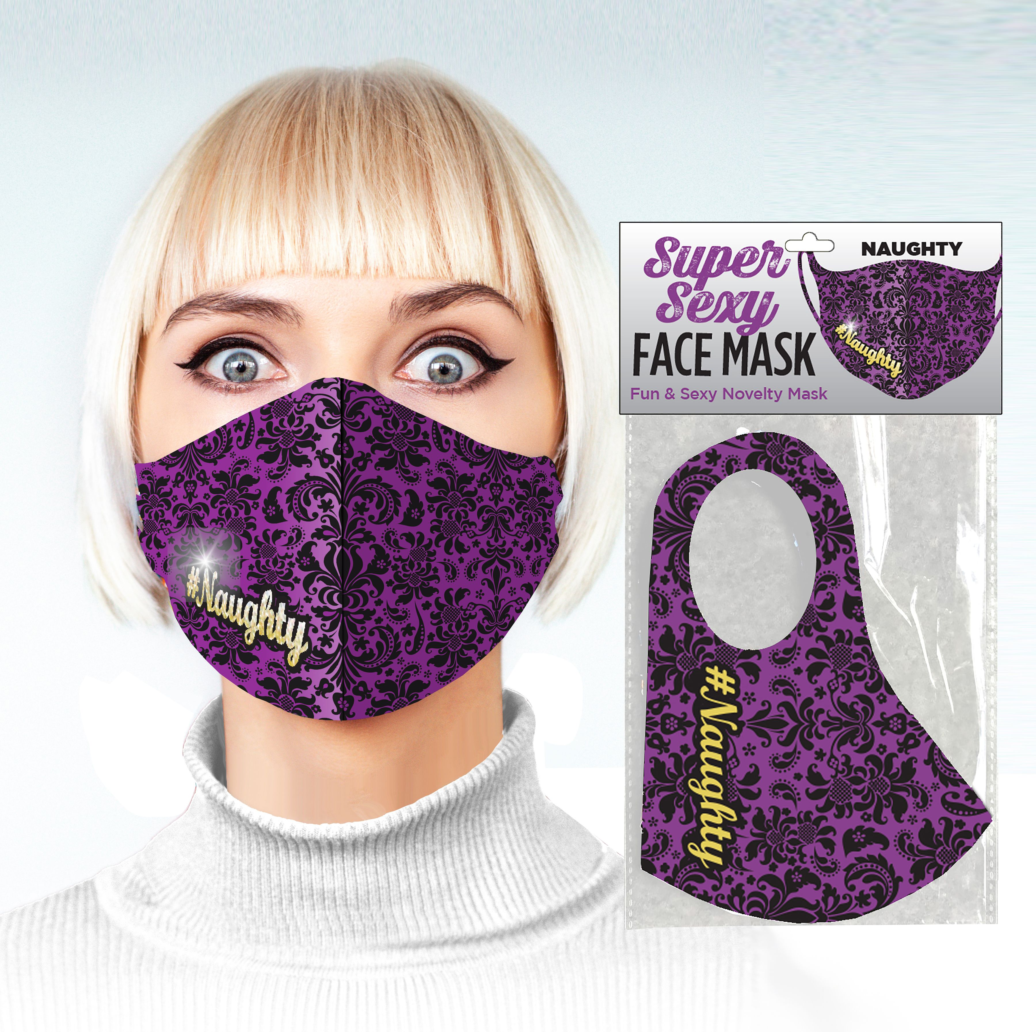 SUPER SEXY #NAUGHTY FACE MASK covid, adult, covid-19, facemask