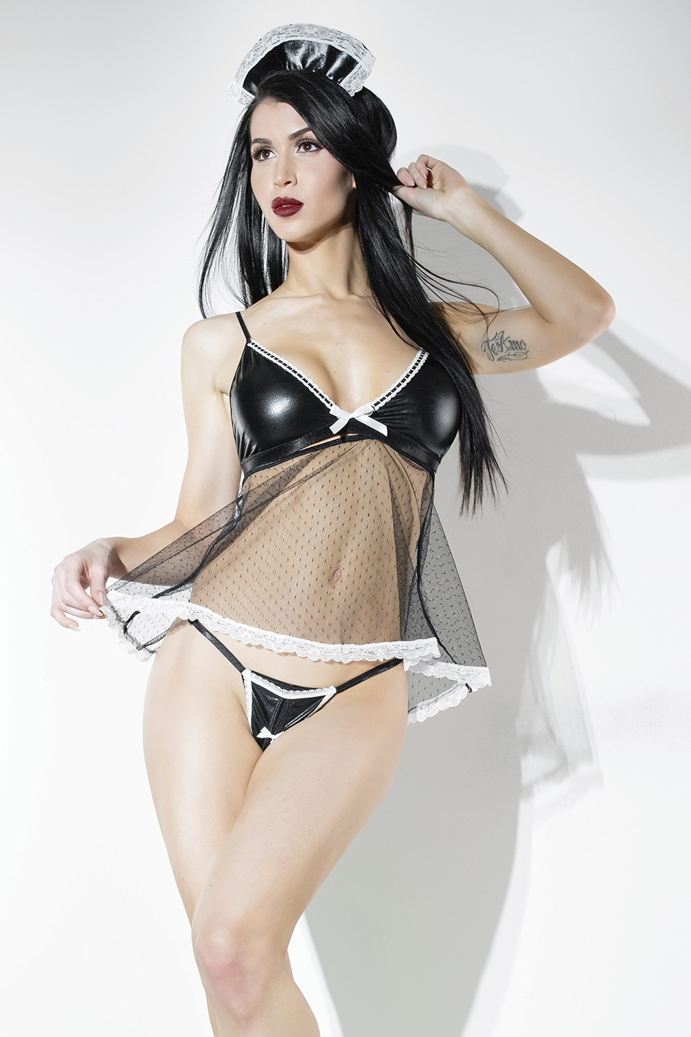FRENCH MAID BABY DOLL O/S - CQD9333